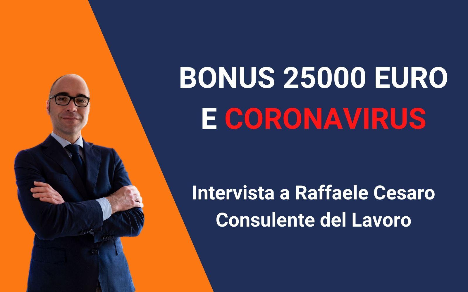 bonus 25000 euro coronavirus