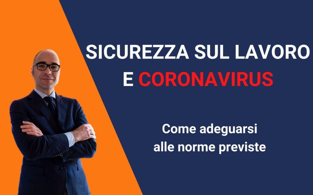sicurezza sul lavoro coronavirus