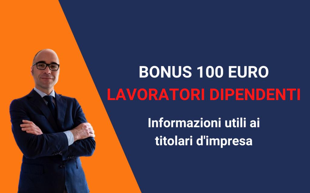 bonus 100 euro lavoratori dipendenti